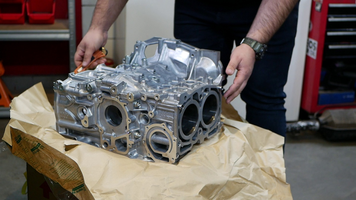 Blok nového motora pre WRX STI