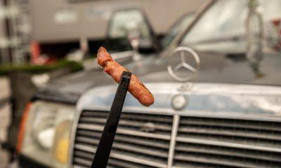 Grilujeme so starým Mercedesom