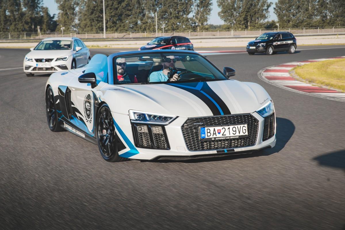 Audi R8 a testovanie HAKATRON na Slovakiaringu